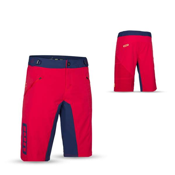 ION Bikeshort Vertex Men, crimson red