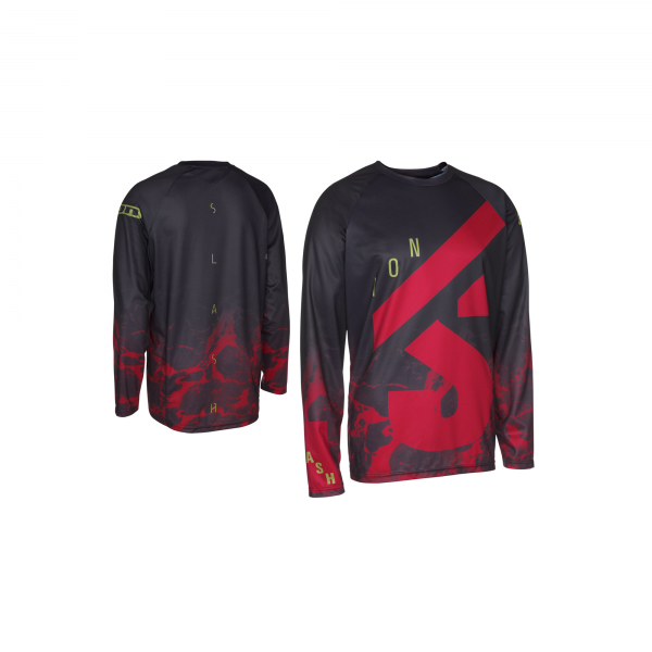 ION Tee LS Voltage Men - crimson red